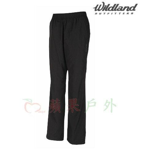 【【蘋果戶外】】荒野 W2319-54 Wildland 黑 女 防風保暖長褲 彈性纖維/抗靜電/休閒長褲 防潑水 內刷毛