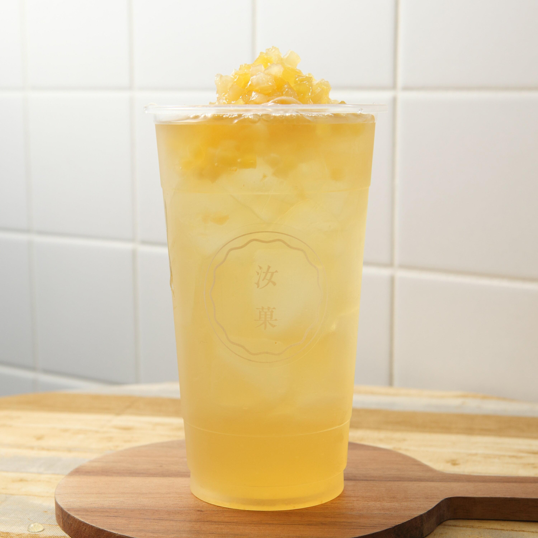 【汝菓】鳳梨青茶 L (冷/熱) 700 c.c.★茶飲★水果風味★電子票券