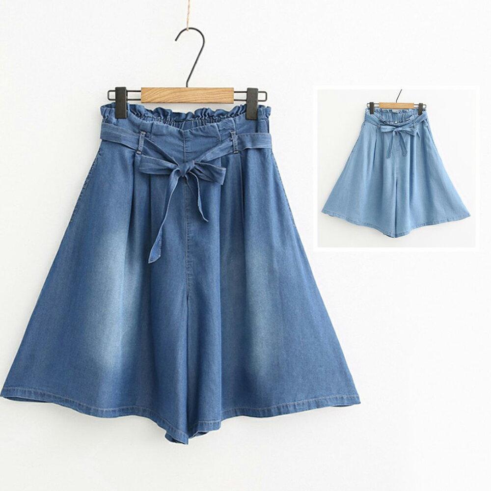日系天絲棉牛仔短褲(2色S~XL)*ORead*