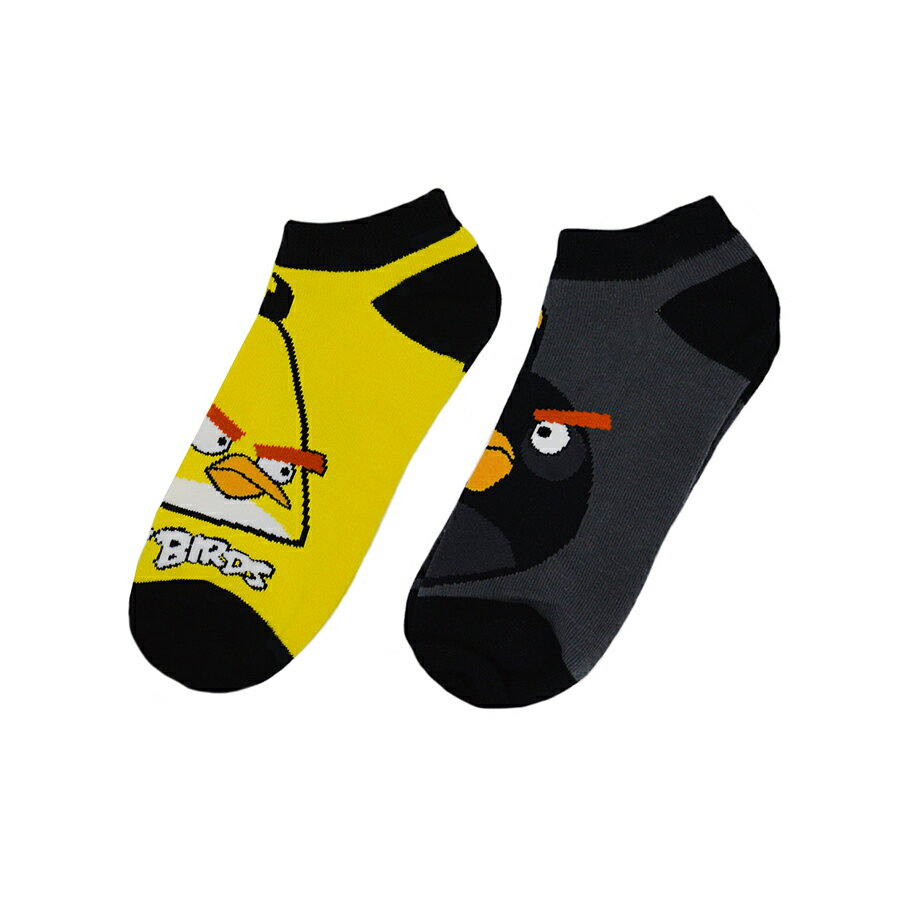 "Angry Birds 2 Pack ""THE BIRDS HAVE IT 2"" Low Rise Boys Girls Kids Socks - Size 9 - 11 Large 0"
