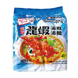 韓寶龍蝦海鮮湯麵/韓國泡麵/拉麵(四包一袋)