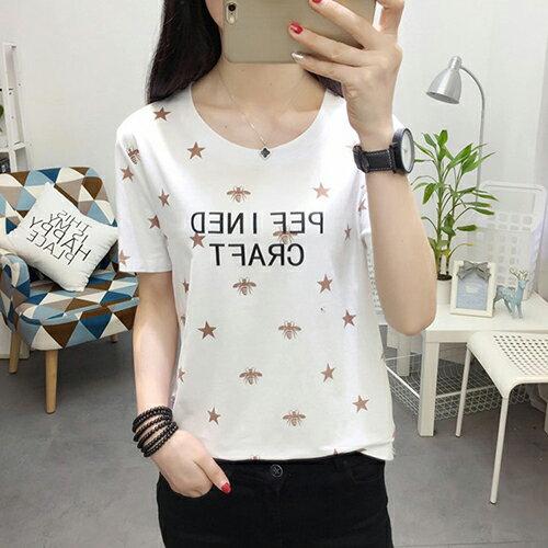 純棉印花T恤(4色M~XL)*ORead* 1