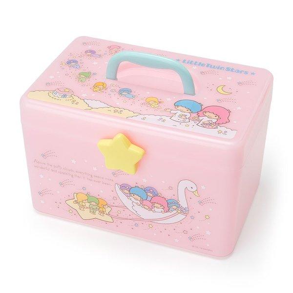 【真愛日本】18083000003手提收納箱-TS星雲粉ADFB雙子星kikilala手提箱收納箱置物箱