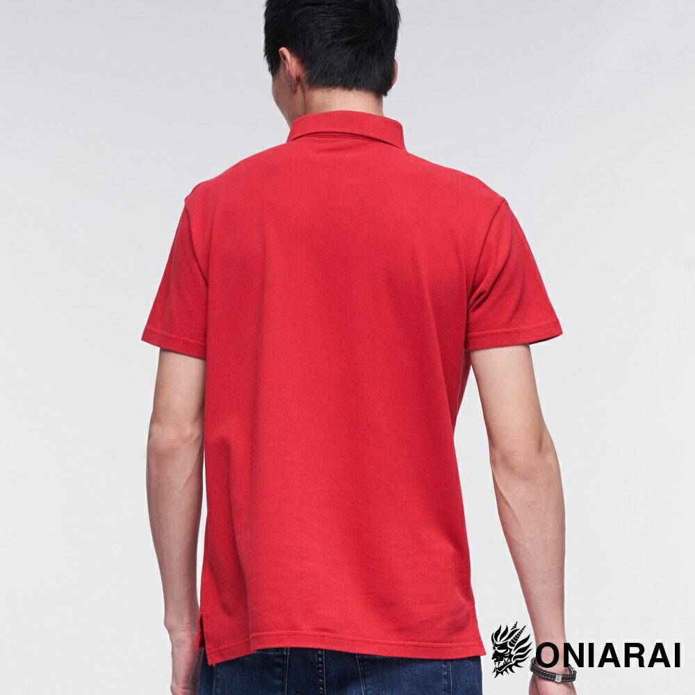 BLUE WAY  鬼洗 精繡鬼武獅POLO衫(紅) 2