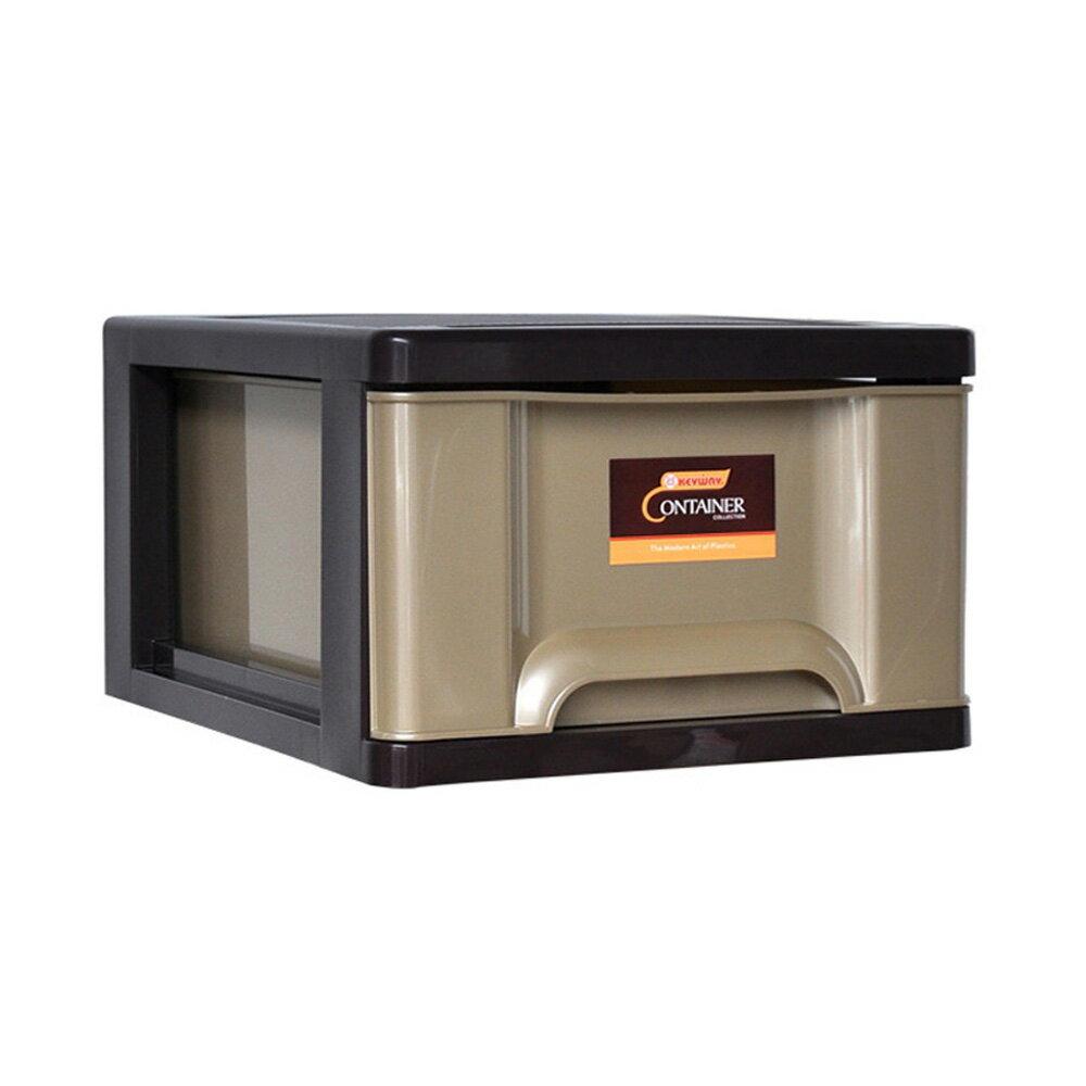 【nicegoods】時代單層收納整理箱(單層27公升) 3入組(收納櫃 抽屜櫃 衣櫃 塑膠 整理箱)