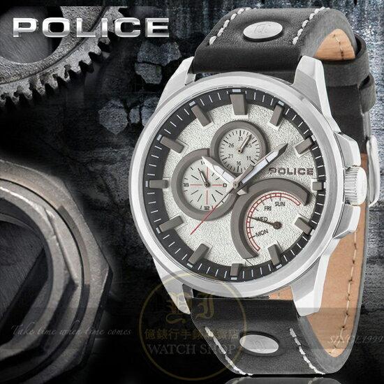 POLICE義大利國際品牌NAVIGATOR魅力型男潮流日曆腕錶14799JS-04原廠公司貨