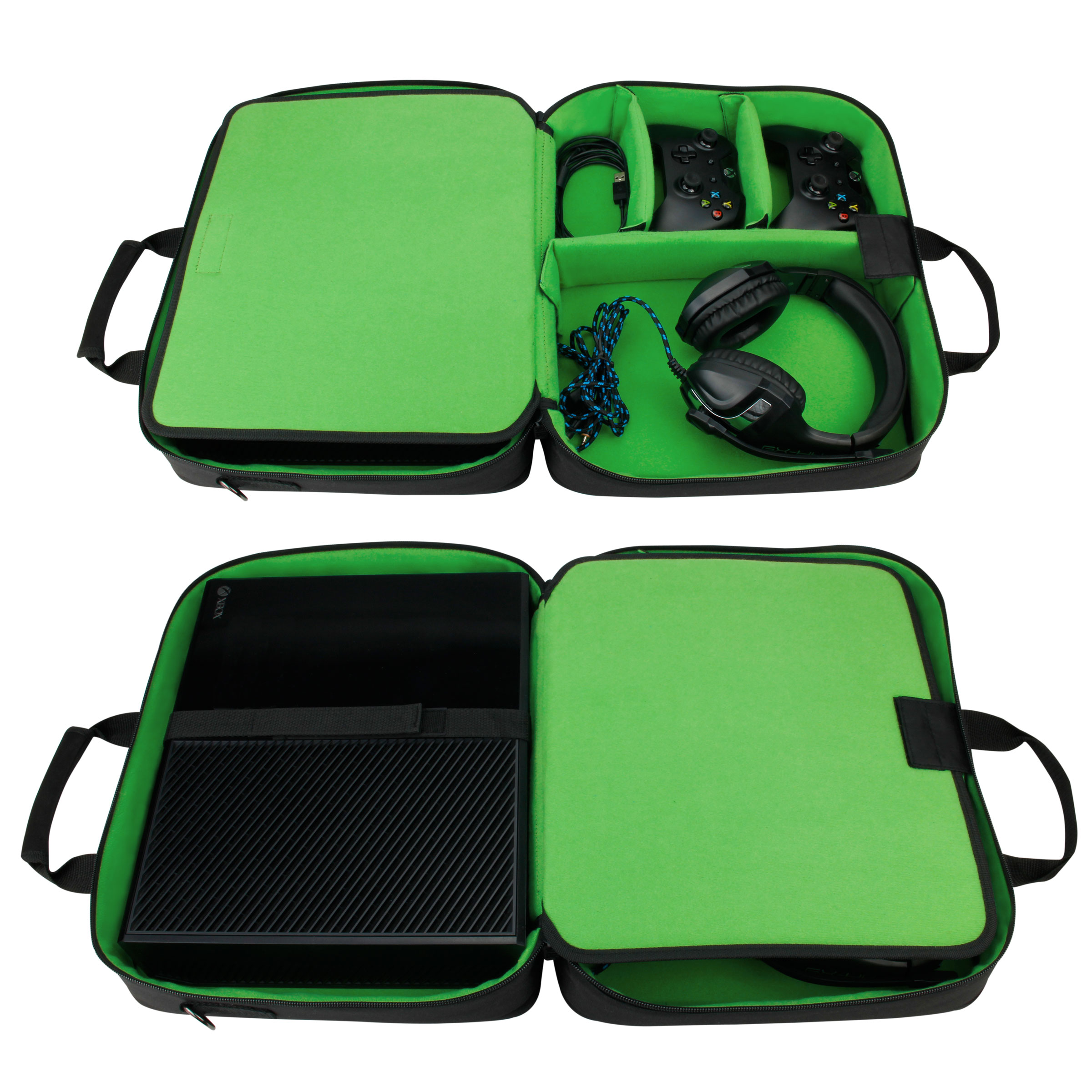 Xbox One Travel Carrying Case with Kinect Pouch , Shoulder Strap , Game Pockets & Accessory Pockets 1