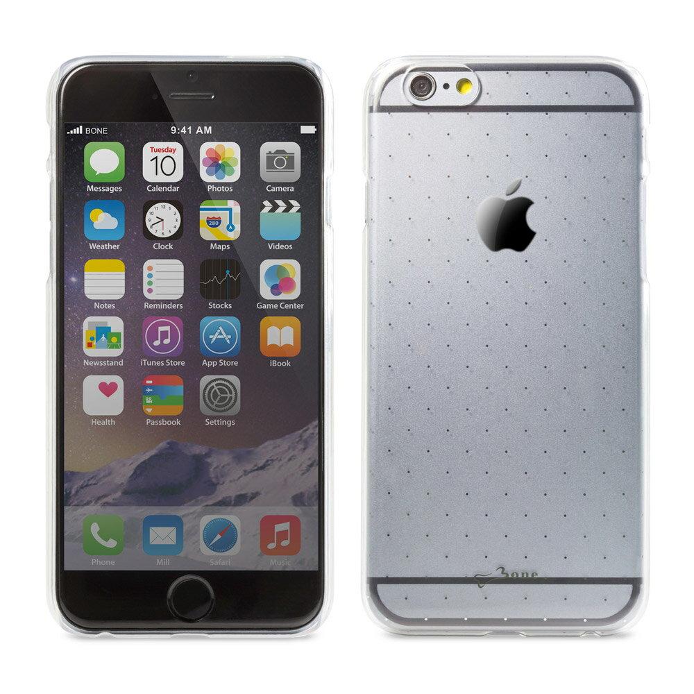 Bone|iPhone 6 / 6S 透明背蓋 保護殼 手機殼 - 灰色點點