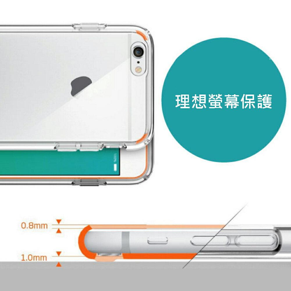 Apple iPhone 6/6s 4.7吋高質感雙料材質 透明TPU+PC手機殼/保護套 2