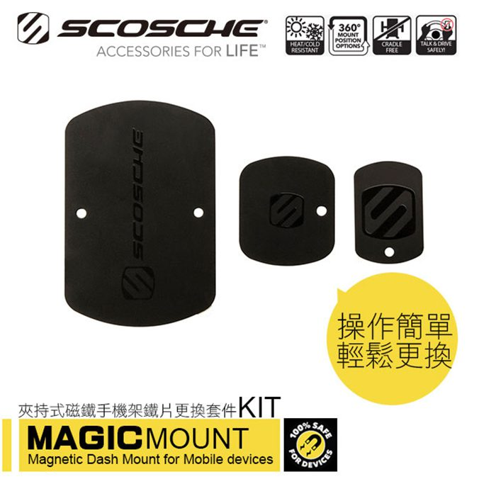 SCOSCHE MAGIC MOUNT KIT 鐵片更換套件