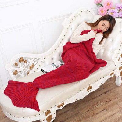 ★毛毯 懶人毯-人魚尾巴仿羊絨針織毯子7色73pp489【獨家進口】【米蘭精品】 2