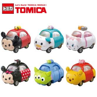 日貨 TOMICA TSUM TSUM系列 多美小汽車 疊疊樂 迪士尼 日本進口 米奇 米妮 維尼 三眼怪 唐老鴨【B061467】