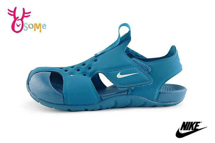 NIKE Sunray Protect 2 中童涼鞋 護趾 運動型涼鞋O7145#藍色◆OSOME奧森鞋業