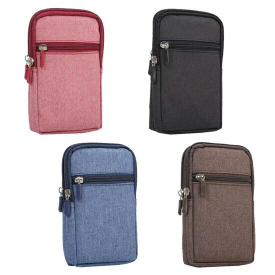 【Max 6.3吋】牛仔布休閒包/直立式手機攜行袋/腰包/皮帶掛勾/環掛包/多功能3C隨身包