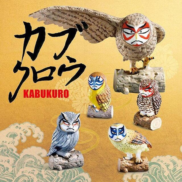 TAKARA扭蛋 歌舞伎鷹 - Norns 日本轉蛋 奇譚俱樂部 歌舞 貓頭鷹 倉鴞 傳統 臉譜 熊貓之穴 造型公仔 玩具擺飾