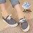 ★399免運★格子舖*【KD883A】MIT台灣製 嚴選韓版簡約時尚刷色牛仔帆布 綁帶3CM增高厚底包鞋 帆布鞋 鬆糕鞋 2色 0