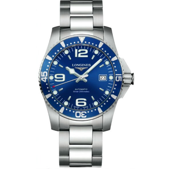 LONGINES L36424966深海征服者潛水經典面機械腕錶/藍面藍圈41mm