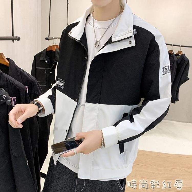 男士外套春秋季2020新款百搭帥氣寬鬆韓版潮流工裝夾克上衣服男裝