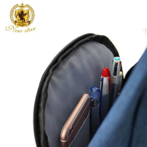 單肩背包 簡約防水拼接配皮前口袋斜胸包後背包包 NEW STAR BK243 9