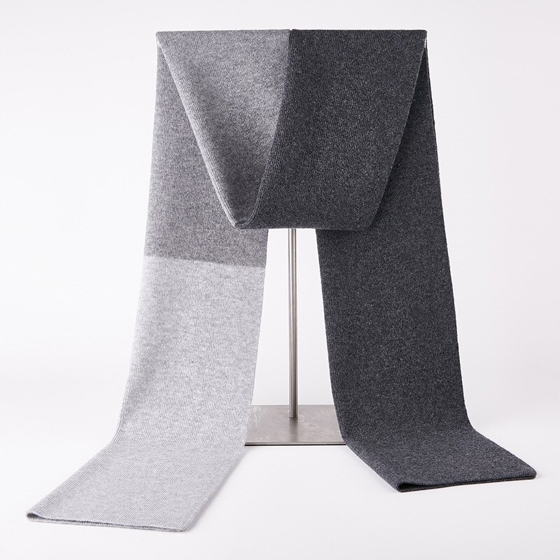 圍巾羊毛披肩-拼色商務簡約針織男配件4色73wh20【獨家進口】【米蘭精品】