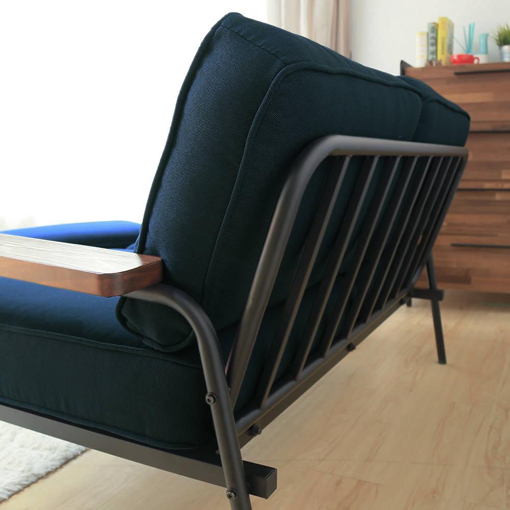 日式 推薦 Marico馬力克工業風鐵架L型沙發 / 雙人沙發+腳凳  /  H&D 3