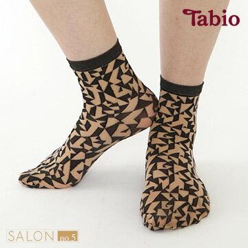 日本靴下屋Tabio幾何圖案除臭透膚絲襪短襪