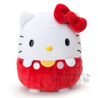 凱蒂貓週邊商品推薦到〔小禮堂〕Hello Kitty 造型絨毛玩偶娃娃《紅.圓型》超柔軟材質