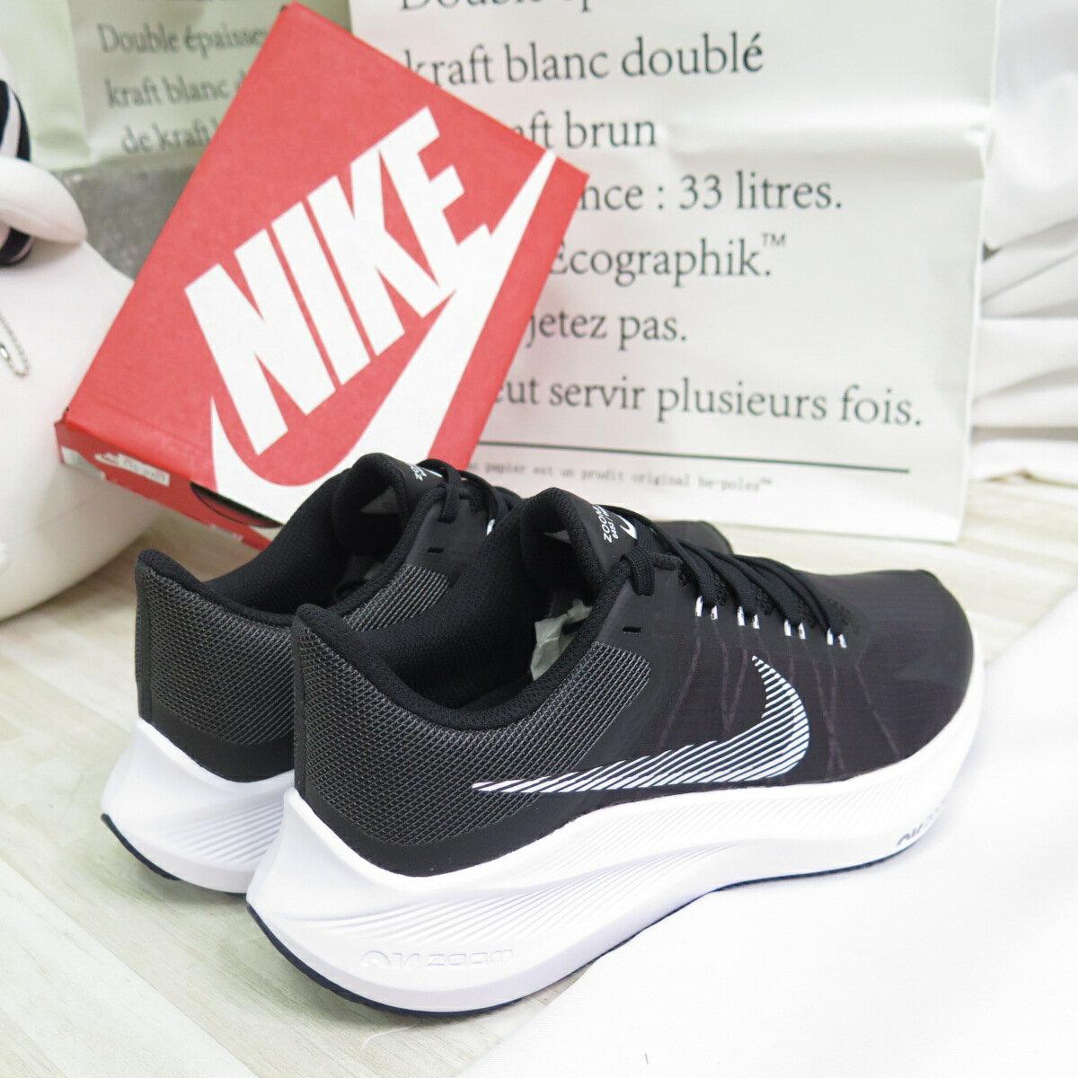 【滿額領券折$150】NIKE AIR ZOOM WINFLO 8 運動鞋 女款 慢跑鞋 CW3421005 黑【iSport愛運動】