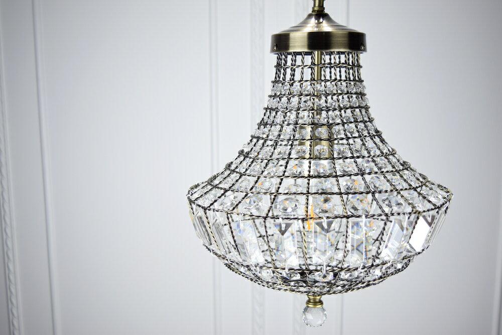 古銅提籠水晶吊燈-BNL00106 1