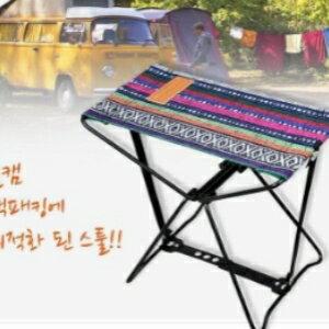 美麗大街【CF3009】出口韓國戶外野營折疊凳野炊燒烤椅垂釣凳登山徒步便攜馬扎迷你凳