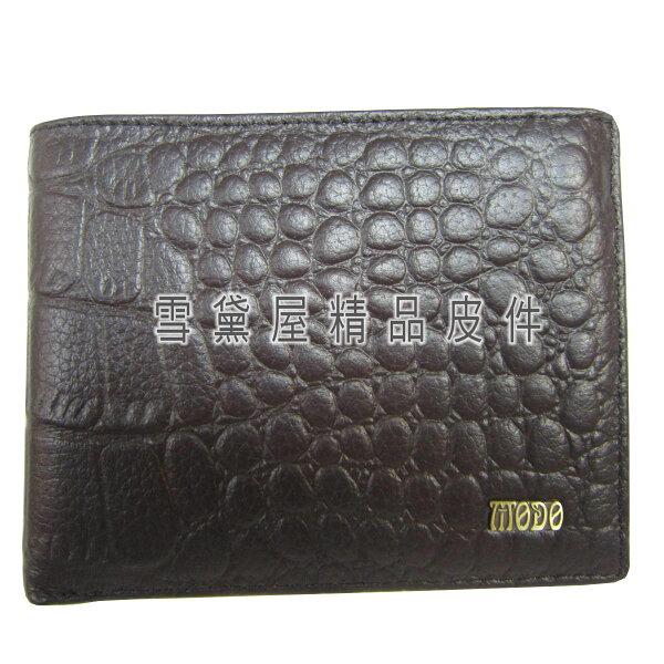 ~雪黛屋~MODO男仕短夾進口專櫃100%進口牛皮革材質固定型證件夾加長尺寸BMO320-074-2007