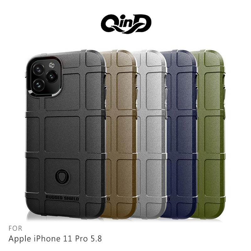 強尼拍賣~QinD Apple iPhone 11 (6.1吋)、Apple iPhone 11 Pro (5.8吋)、Apple iPhone 11 Pro Max (6.5吋) 戰術護盾保護套 背