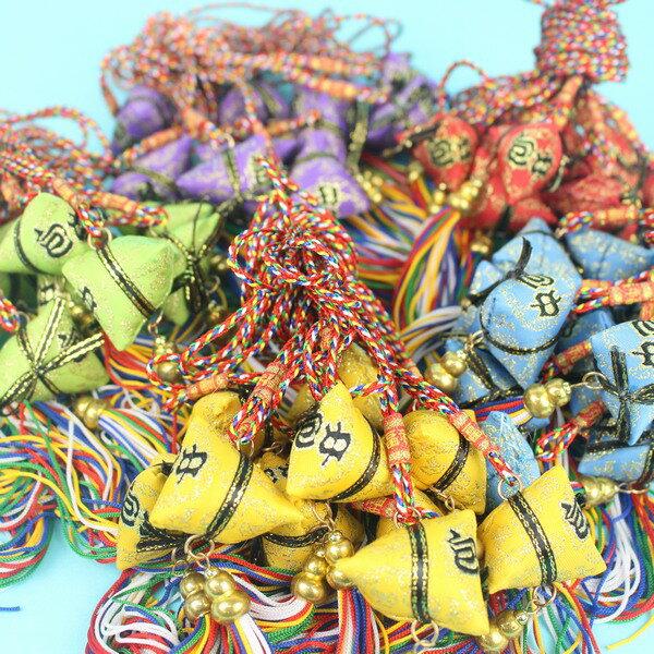 項鍊式手工粽子香包 包中香包(五色線)/一個入{促35} 端午節香包~5835