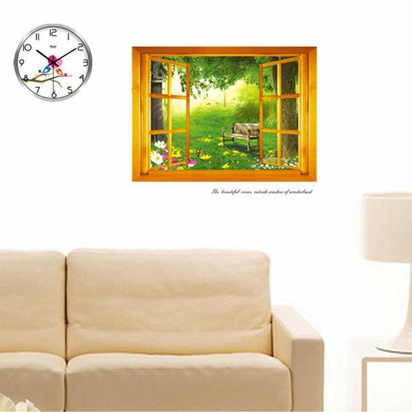 BO雜貨【YV0677】DIY時尚裝飾組合可移動壁貼 牆貼 壁貼 創意壁貼 窗外森林AY731