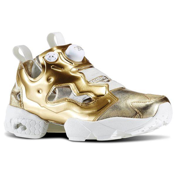[尋寶趣] REEBOK Pump Fury 金 女鞋 慢跑鞋 亮金 充氣 V70094