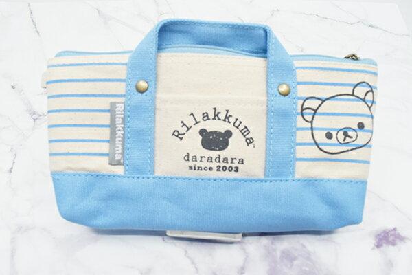 X射線【C193376】懶熊Rilakkuma 提式筆袋-海洋,鉛筆盒 筆盒 筆袋 筆筒 文具 收納
