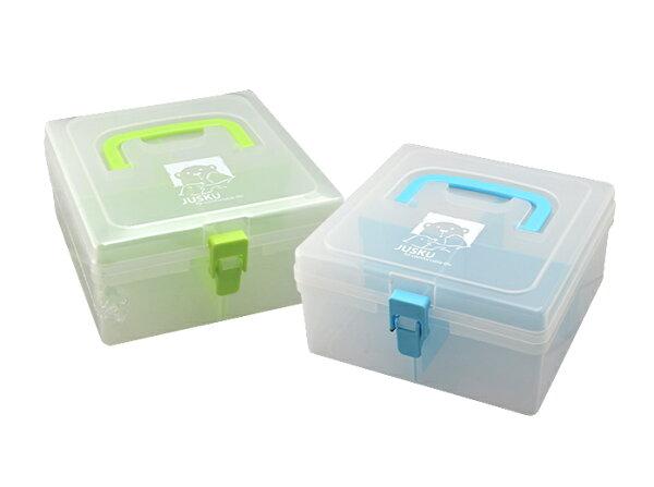 JUSKU佳斯捷3257小豆腐收納箱置物箱手提整理盒零件盒收納箱儲物盒工具箱小物盒台灣製造手提收納箱文具箱