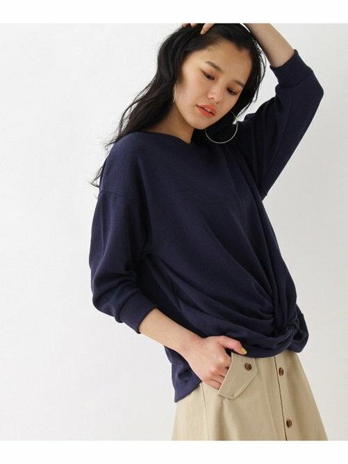 OZOC 圓領素面鈕結設計長袖針織衫 日本必買 日本直送 代購/日貨/雜誌