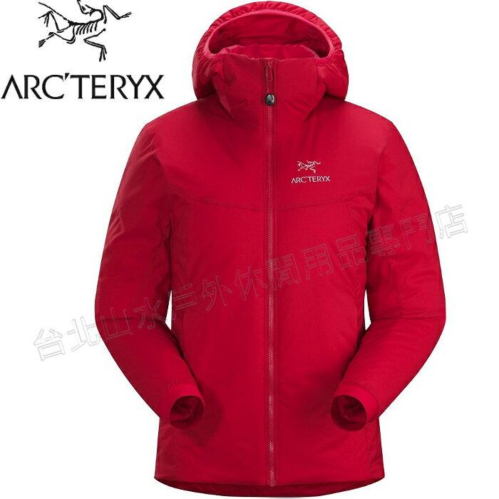 Arcteryx 始祖鳥 Atom AR Hoody 連帽化纖保暖外套/防潑水滑雪外套/雪衣/登山保暖層 女款 14664 石榴紅 台北山水