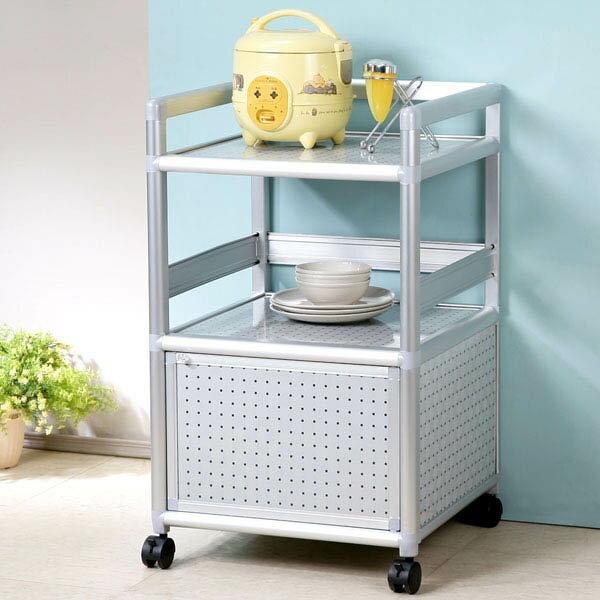 鋁櫃 電器櫃 電器架 櫥櫃 碗盤收納 廚房收納櫃 置物櫃 碗盤櫃 置物架《Yostyle》鋁合金1.5尺單門收納櫃-黑花格