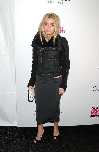 Ashley-Olsen-Wearing-A-Rick-Owens-Jacket-Calvin-Klein-Collection-Skirt-And-Christian-Louboutin-Shoes-At-Arrivals-For-First-Look-Grand-Reopening