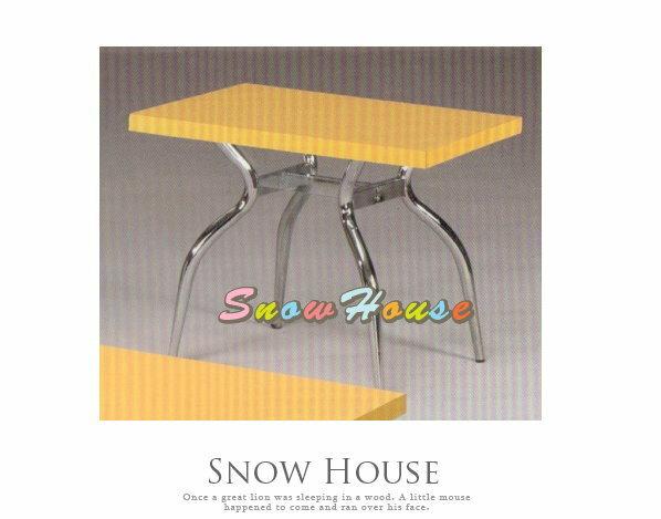 ╭☆雪之屋居家生活館☆╯A385-12 電鍍腳歐風小茶几/餐桌/茶桌/咖啡桌/置物桌**黃色