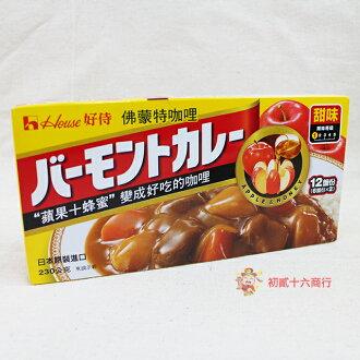 【0216零食會社】日本-佛蒙特咖哩塊-蘋果蜂蜜(甜味)230g