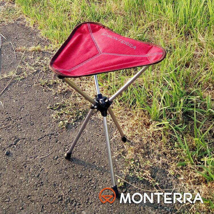 Monterra 輕量鞍型折疊椅Saddle Alpha 酒紅色 / 城市綠洲 (摺疊、折疊、露營桌椅、韓國品牌)