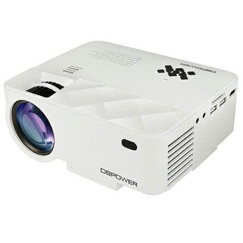 【日本代購】DBPower 迷你型 LED 投影機 亮度1500流明 1080P HDMI ★iPhone/Android手機可連接★