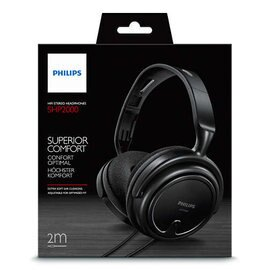 PHILIPS SHP2000 立體聲耳罩式耳機 線長2米