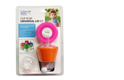澳洲 Cherub Baby 萬用 矽膠 防漏杯蓋 兩入組-粉橘