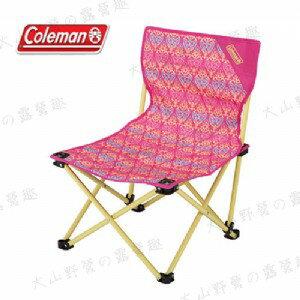 【露營趣】中和安坑 Coleman CM-22015 紅葉圖騰樂趣椅 折疊椅 休閒椅 釣魚椅 童軍椅