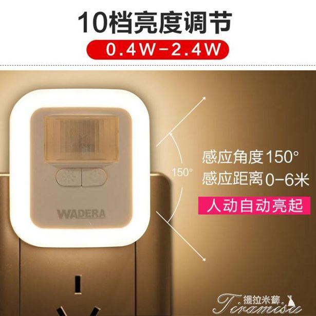 感應燈-人體感應燈led過道燈插電式家用衛生間光控走廊全館折扣限時促銷