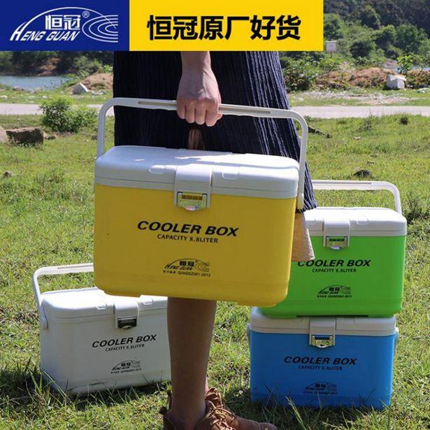 釣魚冰箱-恒冠迷你小釣箱硬式海釣箱車載戶外保鮮箱活蝦箱釣魚冰箱全館折扣限時促銷
